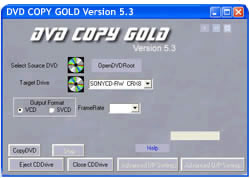 DVD Copy Gold - One Click DVD Burning